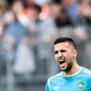 Er ist der Sieger im Kampf um die Nummer 1 beim FC St.Gallen: Dejan Stojanovic. (Bild: Benjamin Manser