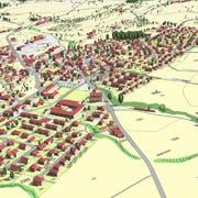 Waldkirch virtuell: Künftig können sich Einwohnerinnen und Einwohner am Bildschirm ein besseres Bild von geplanten Bauprojekten machen. (Sreenshot: Gemeinde Waldkirch)