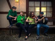 Móran Téada wird am diesjährigen Irish Open Air Toggenburg auftreten. Ein Teil der Formation – die Geschwister Patrick und Larissa Baer – ist in Neu St.Johann aufgewachsen. (Bild: PD)