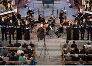 Aufführung der Matthäuspassion mit dem Ensemble Corund in der Kirche St.Peter und Paul in Andermatt. (Bild: Peter Fischli, Andermatt, 19. April 2019)