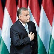 Inszeniert sich gern als Retter der ungarischen Nation: Premierminister Viktor Orbán. (Bild: Szilard Koszticsak/EPA; Budapest, 10. Februar 2019)