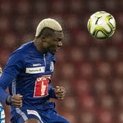 Luzerns Blessing Eleke avancierte zum Matchwinner. (KEYSTONE/Ennio Leanza)