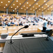 Vorlesungssaal an der Universität St.Gallen. (Bild: KEY/Christian Beutler)