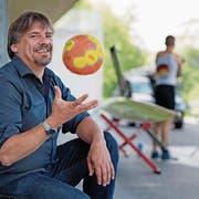 Cyril Aregger beim Ruderzentrum Rotsee. (Bild: Corinne Glanzmann (Luzern, 11. Mai 2018))