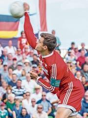 Ueli Rebsamens Sprungservice diente als Vorlage für das offizielle WM-Logo. (Bild: Fabio Baranzini)