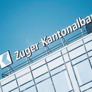 «In Einzelfällen» vergibt die Zuger Kantonalbank Hypothekarkredite zu Minuszinsen: Gebäude der Bank in Zug. Bild: Urs Flüeler/Keystone (25. März 2018)