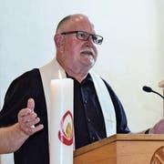 Walter Oberkircher bei seinem Abschiedsgottesdienst am vergangenen Sonntag. (Bild: Christoph Heer)