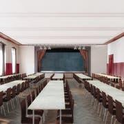 Visualisierung des künftigen Kultursaals im Hotel Port in Entlebuch. (Bild: PD)