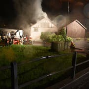 Die Feuerwehr konnte den Brand löschen. (Bilder: Kantonspolizei St.Gallen)