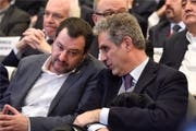 Italiens Ex-Innenminister Matteo Salvini (links) entdeckte Marcello Foa, weil er dessen Kolumnen regelmässig las. Bild: Paolo Tre/Laif (Rom, 31. Januar 2019) (Bild: PAOLO TRE/A3/CONTRASTO/laif)