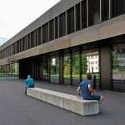 Die Kantonsschule Sarnen. (Bild: Philipp Unterschütz, 8. Mai 2018)