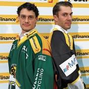 Topskorer unter sich: Thurgaus Cody Wydo (links) und Ajoies Philip-Michael Devos stehen sich im Playoff-Viertelfinal gegenüber. (Bild: Matthias Hafen)