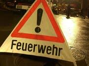 Die Feuerwehr Sennwald rückte aus. (Symbolbild: Hannes Thalmann)