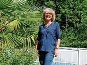 «Das hier ist mein Paradies», sagt Maureen Müller. Ihre Leidenschaft ist die Gartenarbeit, die ihr beim Abschalten hilft. (Bild: Jolanda Riedener)