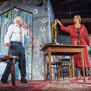 Im vergangenen Jahr wurde im Wasserschloss in Hagenwil das Stück «Die Affäre Rue de Lourcine» mit Walter Andreas Müller (links) gezeigt. (Bild: Andrea Stalder (8. August 2018))