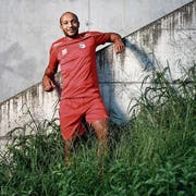 Fühlt sich beim FC Rotkreuz pudelwohl: der 35-jährige Balu Ndoy Bokanga. (Bild: Stefan Kaiser, Rotkreuz, 3. September 2019)