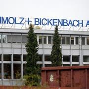 Das S+B-Firmenlogo am Standort im Emmenbrücke. Der Hauptsitz der Gruppe befindet sich in Luzern. (Bild: Urs Flüeler/Keystone, 27. Oktober 2014)
