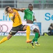 Kekuta Manneh bestritt für St. Gallen in der Meisterschaft nur sieben Teileinsätze. (Bild: Urs Bucher)