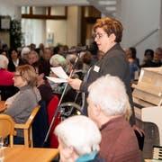 Stiftungsratspräsidentin Margrit Künzler-Niederberger begrüsst die Anwesenden der Jubiläumsfeier. (Bild: PD)