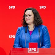 SPD-Chefin Andrea Nahles. (Bild: Robert Schlesinger/Getty, Berlin, 15. Oktober 2018)