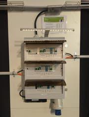 Eine Powerbox für drei Parkplätze des Start-ups Megalog. (Bild: PD)