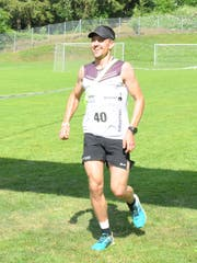 Remo Betschart beim Zieleinlauf. (Bild: Josef Mulle (Spiringen, 30. Juni 2018))