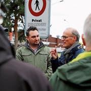 Raphael Frei (links) und Felix Gemperle im Streitgespräch. (Bild: Jolanda Riedener)