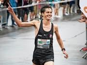 Marathonläufer Valentin Pfeil (links) liess die anderen Läufer souverän hinter sich. (Bilder: Christian H. Hildebrand (20. Juli 2018))