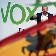 Chef der aufstrebenden Rechtsaussenpartei Vox: Santiago Abascal. (C. Manso/AFP, Burgo, 14. April 2019)
