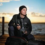 Der 20-jährige Filmemacher Balz Auf der Maur aus Oberwil arbeitete zwei Jahre lang an seinem eindrücklichen Dokumentarfilm «Der Draht zum Tal». (Bild: Stefan Kaiser, Zug, 7. März 2019)