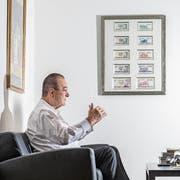Oswald Grübel (75) in seinem Zürcher Büro. (Bild: Nadia Schärli (Zürich, 20. Dezember 2017))