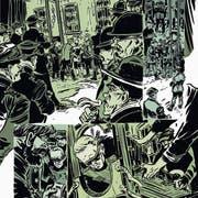Ungesunde Farben und den Drive amerikanischer Splattercomics prägen Melk Thalmanns Graphic Novel «Gatti». (Bild: PD)
