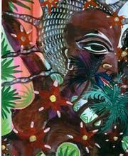 Bild aus der Werkgruppe «Soca Painting II» (Claude Sandoz, St.Lucia/West Indies, Aquarell auf Papier, 1999, Detail). (Bild: PD)
