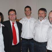Der wiedergewählte Gemeinderat von Wäldi: Doris Michielin, Adrian König, Dan Lehmann, Ruedi Zeller und Gregor Hanhart. (Bild: Kurt Peter)