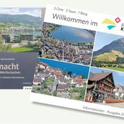 Links die kürzlich verteilte Informationsbroschüre des Solothurner Verlags Proinfo, rechts die offizielle Broschüre des Bezirks Küssnacht. (Bild: PD)