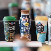 Emmi-Caffé-Produkte des Milchverarbeiters Emmi. (Bild: Urs Flüeler/Keystone (Luzern, 5. März 2018))