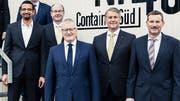 Sollen künftig weniger Lohn erhalten: Die Emmer Gemeinderäte Brahim Aakti, Thomas Lehmann, Rolf Born, Patrick Schnellmann und Josef Schmidli (von links). (Bild: PD)
