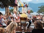 SRF-«Donnschtig-Jass» in Weggis mit Moderator Rainer Maria Salzgeber. (Bild: Nadia Schärli, 25. Juli 2019)