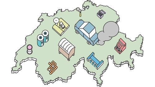 Die Schweiz im Klimavergleich (Bild: Lea Siegwart)