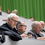 Die Seniorenuniversität geniesst jeweils Gastrecht in der Universität Luzern – hier im Hörsaal 1. (Bild: Corinne Glanzmann (Luzern, 14. Januar 2019))
