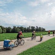 Bei allen Altersgruppen beliebt: Diverse Slow-ups mobilisieren auch die Velofahrer. (Bild: Thi My Lien Nguyen)