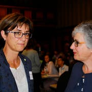 Erziehungsdirektorin Monika Knill (links) und Anne Varenne, Präsidentin von Bildung Thurgau. (Bild: PD)