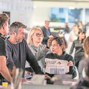 Die Stimmung am Filmset in unserer Redaktion ist angespannt. (Bild Nadia Schärli, Luzern, 19. November 2018)