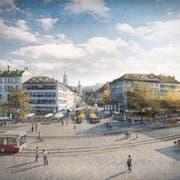 So sehen die Verantwortlichen des Siegerprojektes die Zukunft von Marktplatz und Bohl. (Visualisierung: pd)