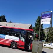 Mit diesem Bus geht's innert 40 Minuten von Meiringen Grimseltor auf die Engstlenalp. (Bild: Markus von Rotz, Engstlenalp, 18. August 2019)