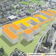 Der Campus an der Technikumstrasse in Horw soll für 333 Millionen Franken ausgebaut werden. (Bild: PD; Bearbeitung: Oliver Marx)