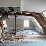 Alles neu: der Umbau des Palace hat begonnen. (Bild: Manuela Jans (Luzern, 5. Oktober 2018))