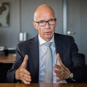 «Ich habe nichts gegen Kritik, aber sie soll fair und sachlich sein.» – Stadtpräsident Thomas Scheitlin. (Bild: Urs Bucher, St.Gallen März 2018)