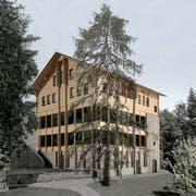 Visualisierung des neuen Gasthauses Hergiswald. (Bild: PD)