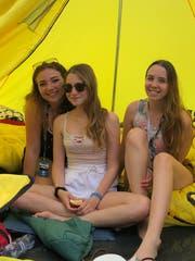 Lara Deschwanden, Jara Fawer und Vanessa Boller aus Solothurn. (Bild: Géraldine Bohne)